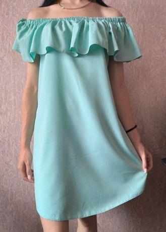 Платье летнее бирюзовое