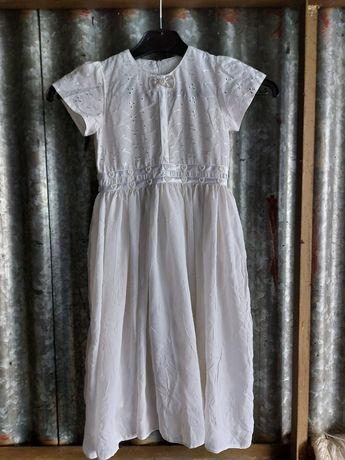 Biała sukienka na święta, lato lub przebranie np. dla aniołka