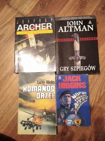 4 książki sensacyjne za 5 zł (Higgins, Hicks, Altman, Archer)