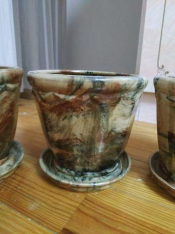 горшок керамика, ручная роспись