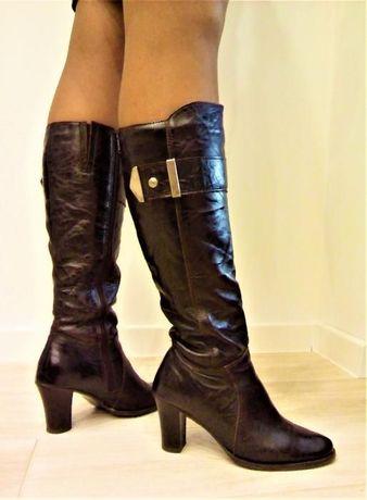 Kozaki / buty zimowe skórzane rozm. 36 (24cm)