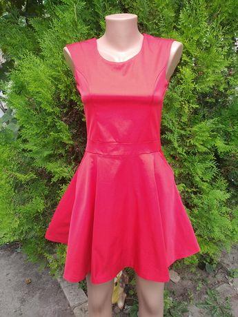 Атласное платье куколка с карманами, p. S