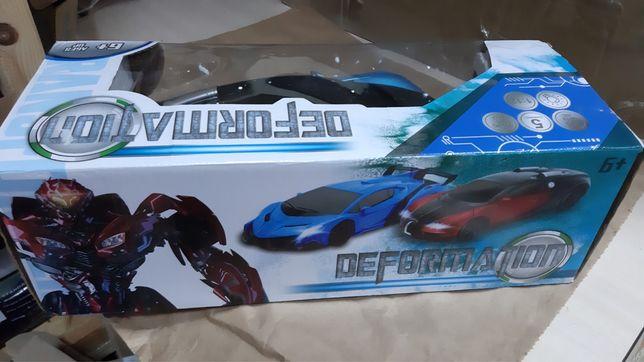 Машинка трансформер Bugatti Robot Car Size 1:12