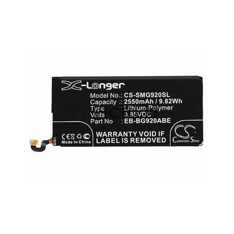 Bateria para Samsung Galaxy S6 - 2550Mah - EB-BG920ABE