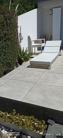 Pavimento Love 4,32mts quadrados 12 peças cinza60×60cm de 2° qualidade
