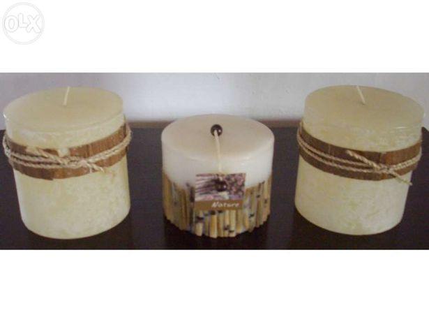 Conjunto de velas decorativas