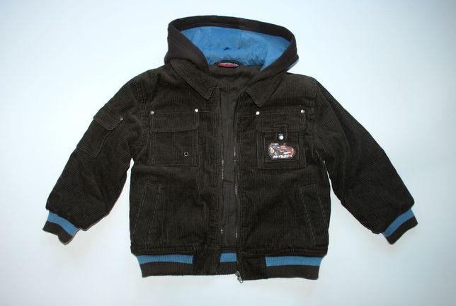 Демисезонная вельветовая куртка на мальчика 5 лет Тачки Disney / Pixar