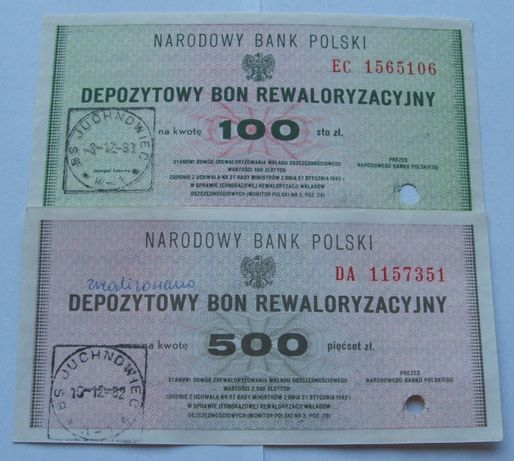 Banknoty POLSKA PRL BONY NBP - Z PACZKI BANKOWEJ - Zestaw Kolekcjoner.