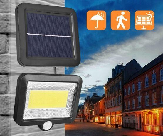 Lampa solarna 100 LED Z PANELEM czujnik ruchu i zmierzchu