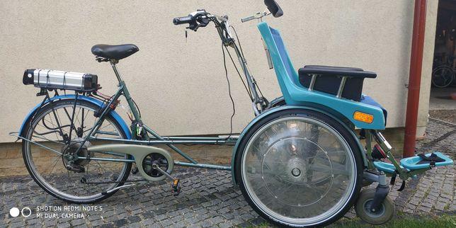 Riksza rower rehabilitacyjny elektryczny trójkołowy inwalidzki