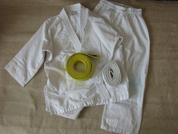 Zestaw komplet kimono dziecięce DECATHLON rozm. 120 + 2 pasy