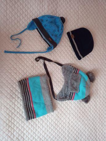 Набір шапочок шапка для хлопчика 2-3 років 48-55 см зимова осіння