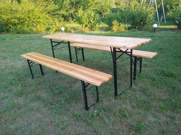 Стол с лавками, комплект садовой мебели, пивной гарнитур, складной