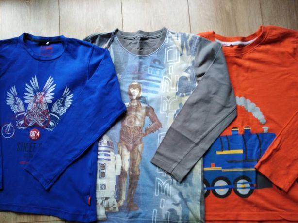 3 bluzki,koszulki rozm 134/140