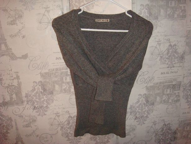 Grey Woolf/ popielaty sweter/ rozm.S