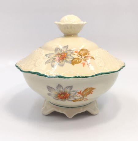 Bomboniera porcelana antyk retro przedwojenna ecru vintage retro 30ste
