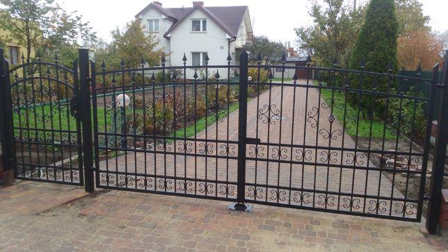Brama kuta BR-198 MONTAŻ GRATIS ogrodzenie płot nowoczesna mazowieckie