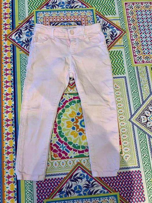 Spodnie jeansowe różowe Zara 104 Katowice - image 1