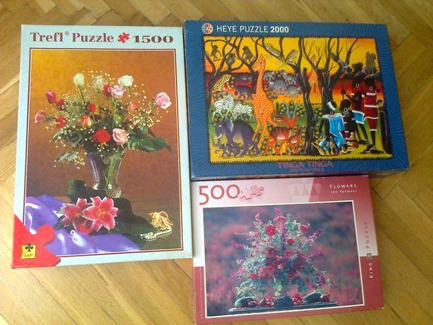 Puzzle z kolekcji - 1500el. /2000el. - sprzedam