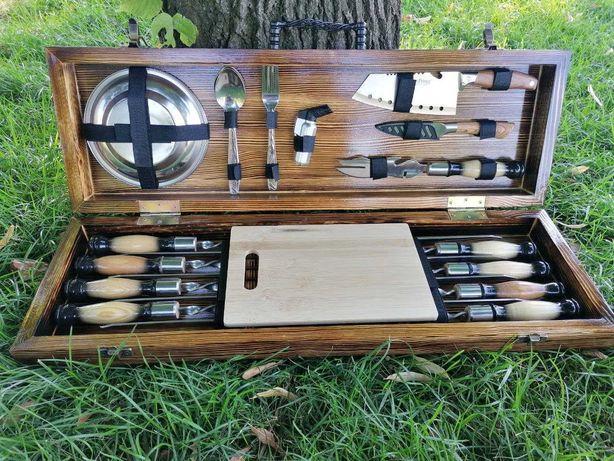 Подарочный набор шампуров для шашлыка и барбекю ручной работы Форест 5