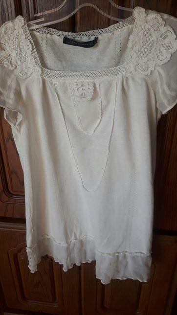 Bluzeczka zara kremowa