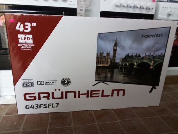 Телевизор Grunhelm  Frameless Full HD Smart