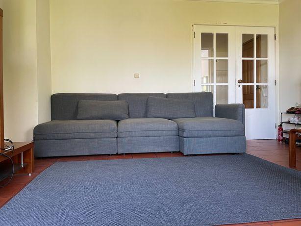 Sofa cama Ikea cinza