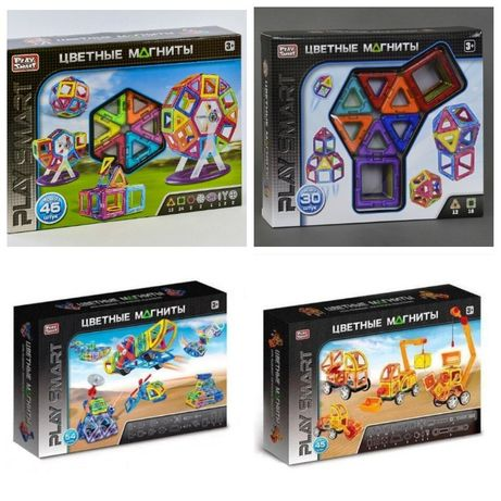 Магнитный конструктор крупные детали Play Smart 2427,2428,2429,2430