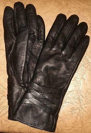 Женские перчатки натуральная кожа лайка с замшем Венгрия