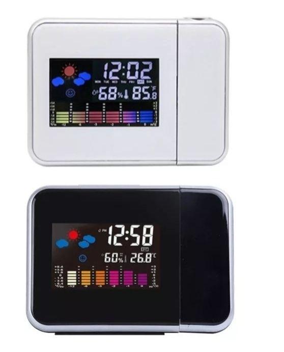 Zegar elektroniczny z projektorem czasu, stacja pogody Mysłowice - image 1
