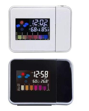 Zegar elektroniczny z projektorem czasu, stacja pogody