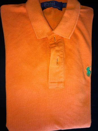 Pólo Ralph Lauren laranja original em bom estado Tamanho S.