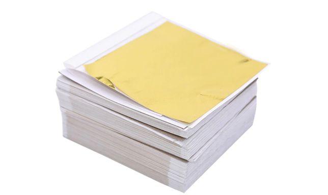 Szlagmetal Folia do złoceń 8x8,5 20 płatki kolor Złoto