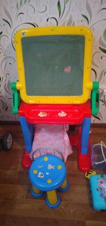 Столик со стульчиком Mollo эко пластик
