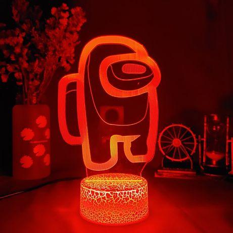 Among Us LED Lamp, Амонг Ас настольная лампа
