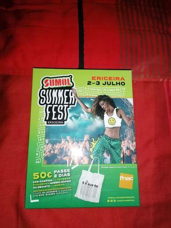 Sumol SummerFest 2021 Bilhete 2 dias