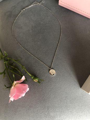 Naszyjnik Tous srebrny miś matowy prezent opakowanie Pandora