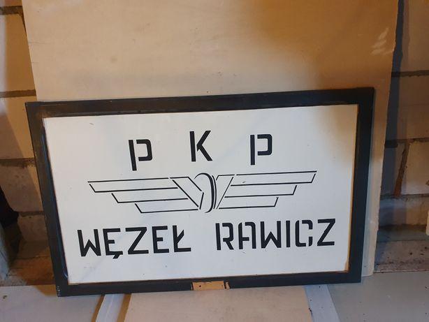 Stary szyld znak kolejowy PKP