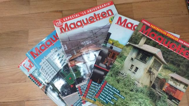 Lote de  5 revistas Maquetren de comboios espanholas boa condição