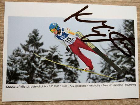 Oryginalny autograf KRZYSZTOF MIĘTUS skoki narciarskie Polska