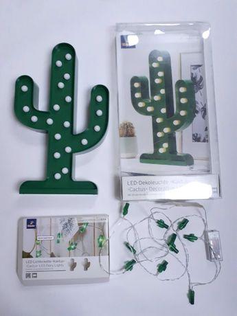Lampka LED + łańcuch świetlny LED kaktus TCHIBO