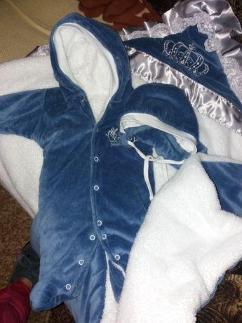 Набор на выписку комплект костюм осень зима