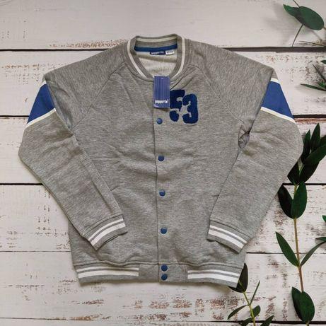 Кофта теплая свитер Бобка бомбер для парня / подростка Pepperts 164