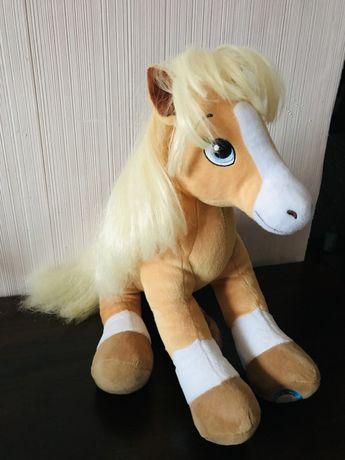 Мягкая игрушка лошадка , новая , Build A Bear White Arabian Horse
