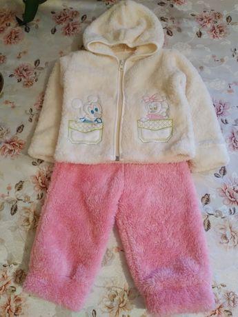 Теплий костюм для дівчинки