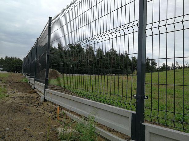 Ogrodzenie Panelowe Fi 4 ocynk+RAL 150cm+20cm Panel + Podmurówka