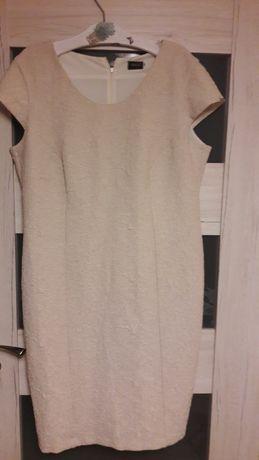 Sukienka beżowa 50 duży rozmiar tanio okazja przesłka 1 zl