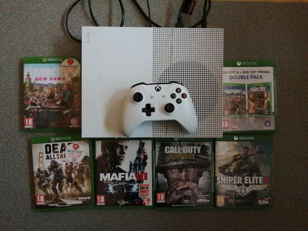 Xbox One S 1t +1 pad 6 gier stan idealny sklepowy !!