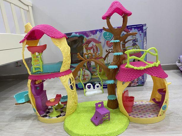 Дом enchantimals енчентималс домик кукольный дом лесной  енчентимелс