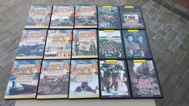 Kolekcja 38 płyty DVD histiria II wojny